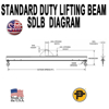 Picture of Channel Lifting Beam - 10 ft. with 20 Ton Capacity - Standard Duty  - SDLB- 20-10