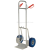 Folding dolly with urethane flat free wheels. Nose plate folds up to save space. Flat-Free with Blue Urethane Tires Part #: DHHT-250A-FD-UBF