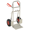 Folding dolly with black urethane flat free wheels. Nose plate folds up to make it more flat. Flat-Free with Black Urethane Tires Part #: DHHT-250A-FD-UBKF