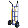 Stair Hand Truck with 4 Handles allows two people to move dolly with cargo up and down stairs.