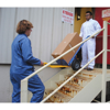 Stair Hand Truck with four Handles allows two people to move dolly with cargo up and down stairs.