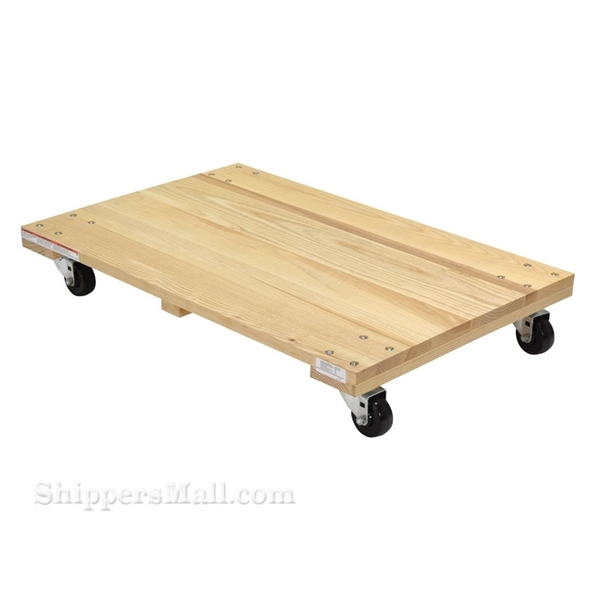 Solid wooden top dolly Weight capacity: 1200 lb. Vestil Part #: HDOS-1624-12