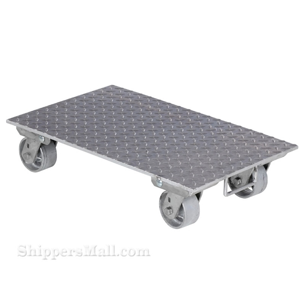 Aluminum Plate Dolly with Steel Wheels 24x36""
