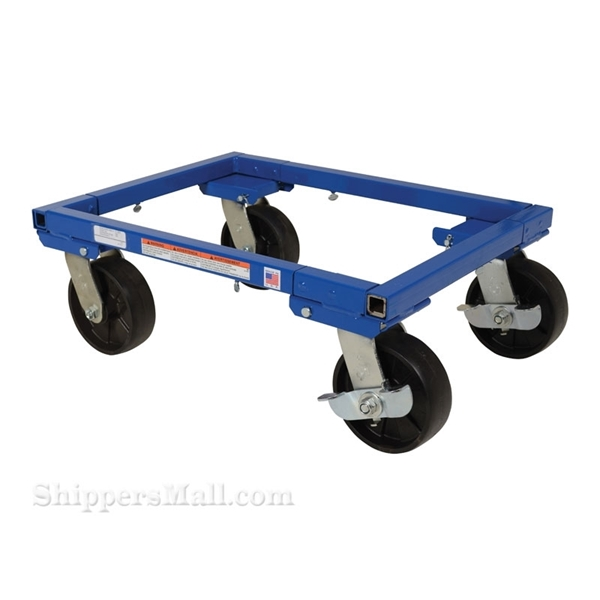 Adjustable tote dolly for moving totes. Vestil part: ATD-1622-6