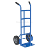 Box dolly with two handles, choose from solid or pneumatic (air filled) wheels, steel or aluminum. Part # DHHT-500S-HR