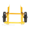Adjustable panel dolly for moving doors, glass or large flat objects.