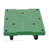 Plastic washable 4 wheel dolly with pull rope is great for the food service industry.  Vestil Part #: POS-1830-LD