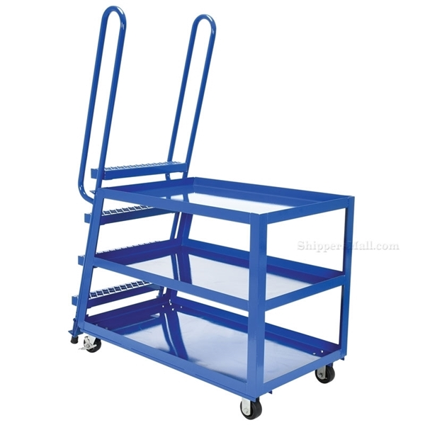 Stockpicker carts for industrial use High duty 1000 lb capacity. Vestil Part SPS-HD-2852