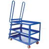 Stockpicker cart for industrial use High duty 1000 lb capacity.  Part SPS-HD-2852-5PU