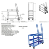 Stockpicker carts for pulling stock from shelves. Part# SPS-HD-2852 Specs