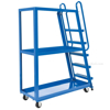 Stockpicker carts for industrial use High duty 500 lb capacity. Vestil Part SPS-HF-2252