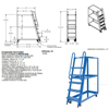 Stockpicker carts for industrial use High duty 500 lb capacity. Vestil Part SPS-HF-2252 Specification drawing