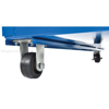 Stockpicker carts for industrial use High duty 500 lb capacity. Vestil Part SPS-HF-2252 zoom wheel 2