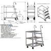 Aluminum Stock Picker truck. Stockpicker cart specification drawing Part # SPA3-2236