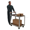 Aluminum Service Cart W/ Two 28 X 40 Shelves for industrial use or factories great for food industry. - Model #: SCA2-2840