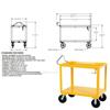 Ergonomic Handle service carts with drain Part #: DH-PH4-2448-D