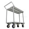 Two Tier Service Cart 18 X 35 Deck for industrial use or factories great for food industry. - Model #: STC-1835 belly