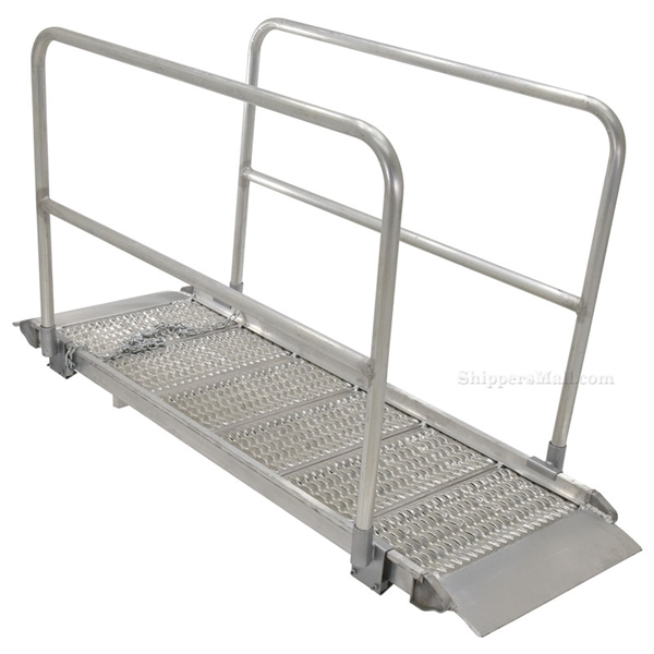 "Walk Ramps With Snow/Ice Grip & Hand Rails - 28"" Wide Overlap StyleVestil Model number: AWR-G-28-HR-GRP"