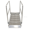 "Walk Ramps With Snow/Ice Grip & Hand Rails - 28"" Wide Overlap StyleModel number: AWR-G-28-HR-GRP"