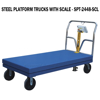 "Steel Platform Truck 3600 lb. Capacity 24X48 W/Scale and 8""x2"" Glass Filled Nylon casters."