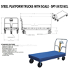 "Steel Platform Truck 3600 lb. Capacity 24X48 W/Scale and 8""x2"" Glass Filled Nylon casters. Drawing"