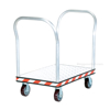 Heavy Duty Aluminum Treadplate Platform Truck with Double Handles, Measures 24X36. Double handle. Part #: ATP-C-2436-2HDL