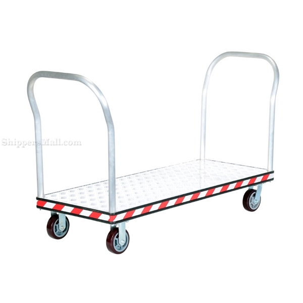 HD Aluminum Treadplate Platform Truck with Double Handles, Measures 24X60.Part #: ATP-C-2460-2HDL
