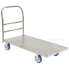 Stainless Steel Platform Truck with poly on poly casters. 24X48Part #: SSPT-2448