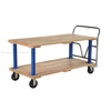 Double Deck Hardwood Platform Cart with a 1600 lb. capacity. Deck size; 30X60 Part #: VHPT/D-3060