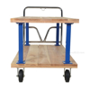 Double Deck Hardwood Platform Cart with a 1600 lb. capacity. Deck size; 30X60 Part #: VHPT/D-3060 Front
