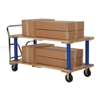 Double Deck Hardwood Platform Cart with a 1600 lb. capacity. Deck size; 30X60