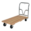 Hardwood platform truck with a hardwood deck. Has a 1600 lb. capacity. Mold on Rubber casters. Part #: VHPT-2448