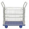 "Steel Platform Cart with Mesh Sides 18"" X 27"". bottom"