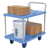 "Platform Cart with Double Deck & Foot Brake, 23""W X 34""L, Part #: TRP-2334-2"