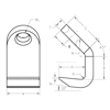 Standard Plate Hook, Chain Rigging Component, drawing