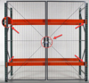 Pallet rack gate with double hinges, RDHG-810 a