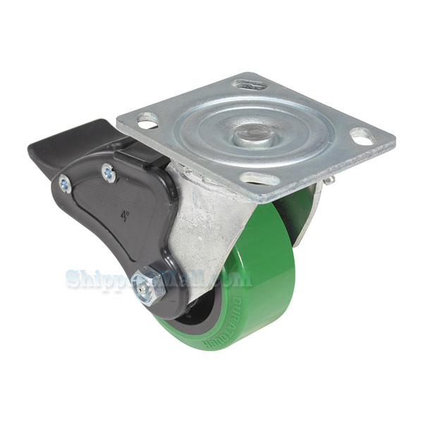 Polyurethane (Duratough, Green) Casters CST-F34-4X2DT-SWTB1