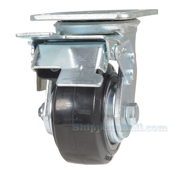 Mold On Rubber (On Aluminum) Casters Model: CST-VE-MRA