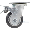 Mold On Rubber (On Aluminum) Casters Model: CST-VE-4X2MRA-SWTB