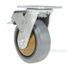 Rubber casters  swivel with total brake