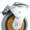 Rubber casters  swivel with total brake CST-KSM-6X2MR-SWTB b