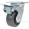 Rubber casters  swivel with total brake CST-KSM-4X2MR-SWTB