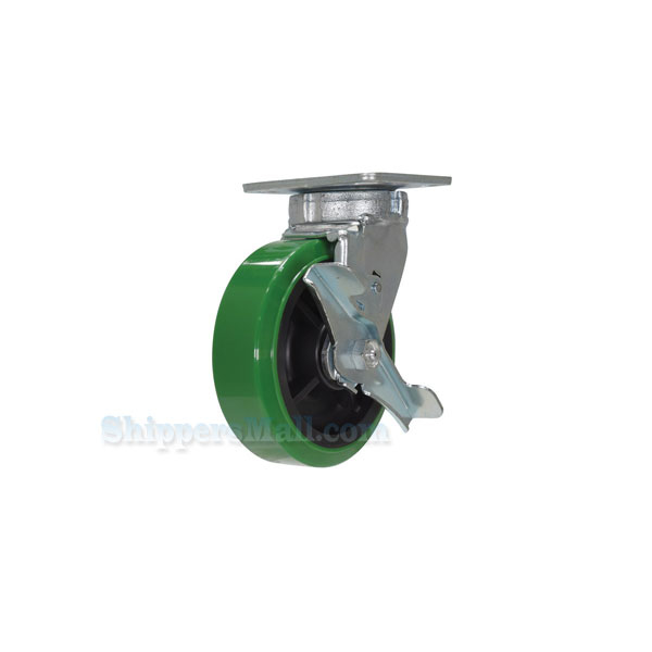 High Tech Casters for industrial use, high-tech non-marking polyurethane, Model; CST-F40-DT-GRP