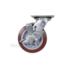 High quality Caster, for industrial use, polyurethane casters (maroon tread), Model; CST-C44-6X2PU-SWB