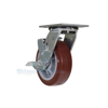 High quality Caster, for industrial use, polyurethane casters (maroon tread), Model; CST-C44-6X2PU-SWB a