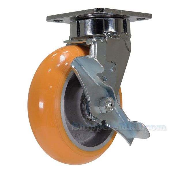 Industrial Caster, heavy duty polyurethane casters, Model; CST-FC47-6X2SI-SWB