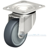 Industrial Caster, ss thermoplastic rubber-elastomer casters, Model; CST-A-SS-4X1TPE-S