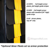 Optional armor pleats for loading docs