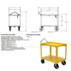 Picture of Ergo-Handle Carts with Drain - Model DH-PU2
