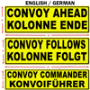 Picture of English / German US Military Convoy Signs